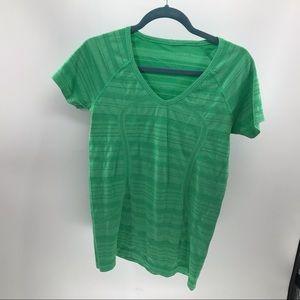 Lululemon Swiftly Tech V-neck Shirt, Green, 10